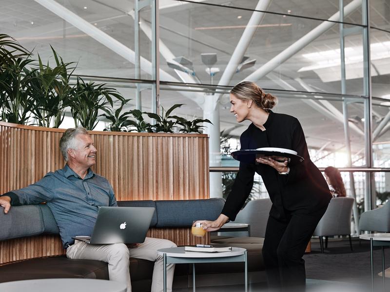 Qantas Business Lounge Brisbane Check Review Test