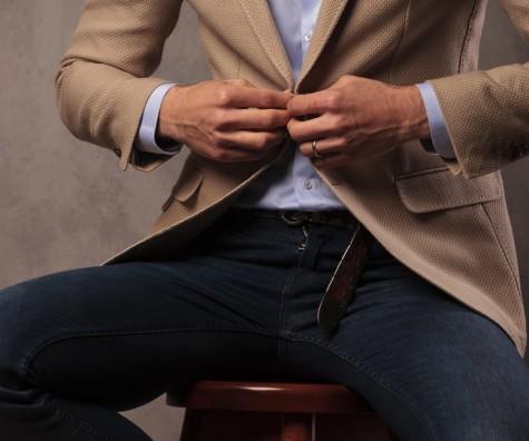 Jeans zum Sakko