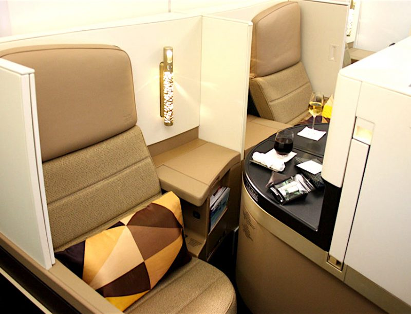 Ethiad Airways Business Class in der Boeing 787