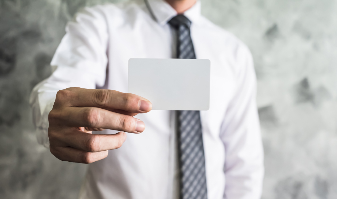 Visitenkarten Business Knigge