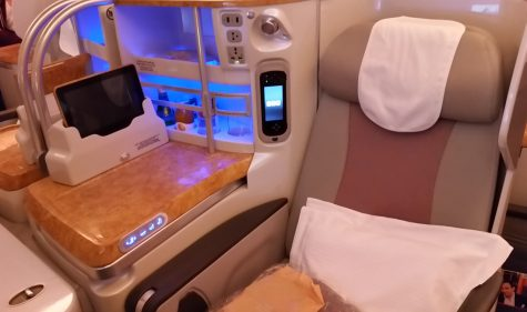 Emirates Business Class im A380-800