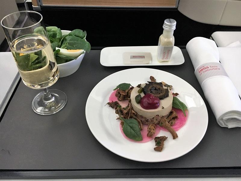 Business Class Kulinarik von SWISS in der Praxis