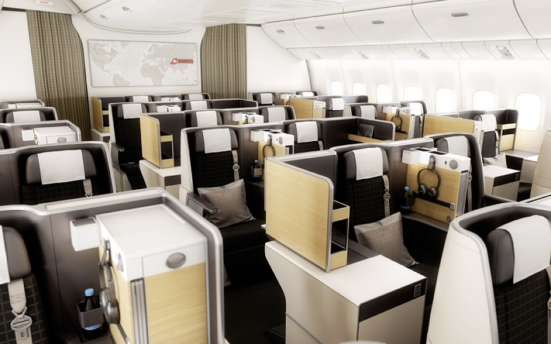 Business Class Kabine SWISS Boeing 777