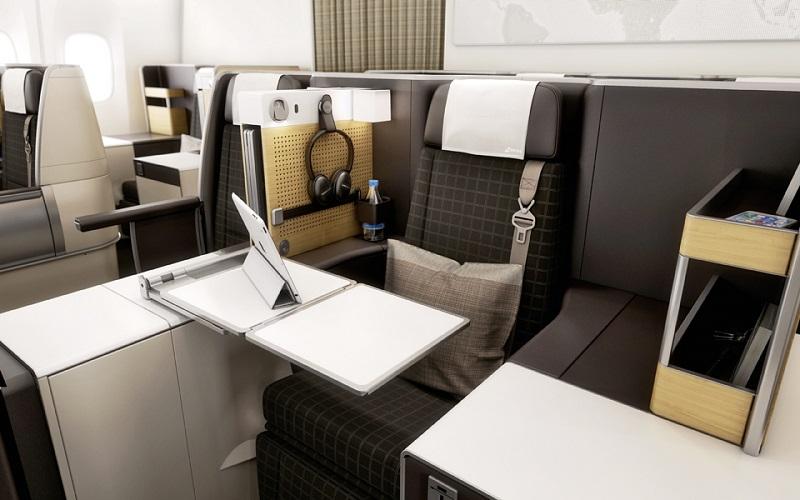 Buisness Class Seat SWISS Boeing 777