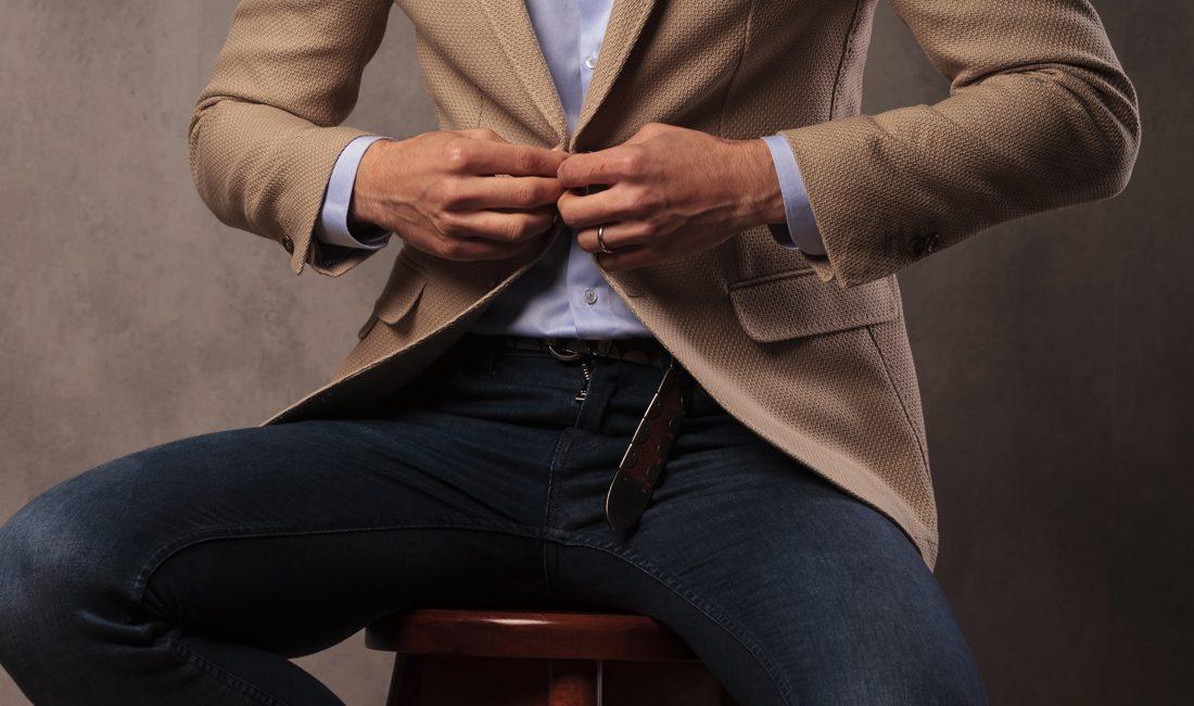 Anzug jacke jeans