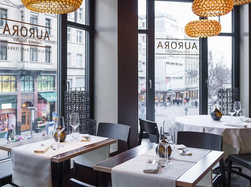 Gastraum im Aurora Zürich