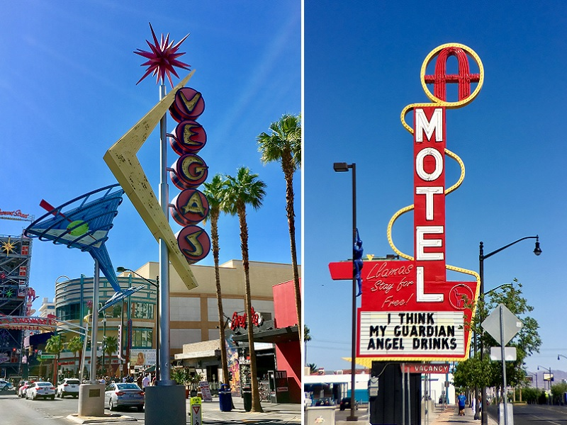 Downtown inLas Vegas