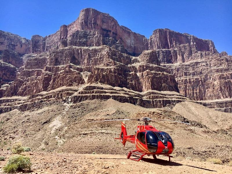 Helikopterflug im grand Canyon
