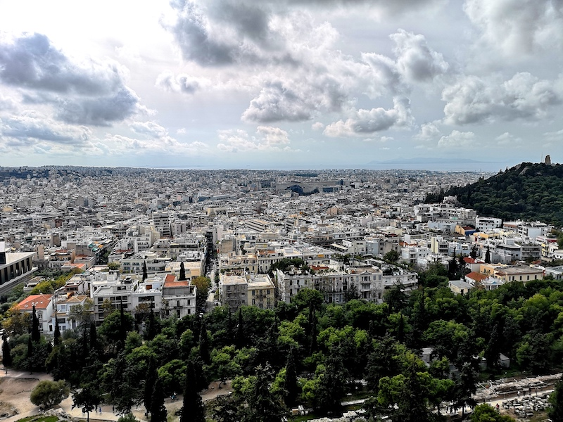 Athen-View-from-Akropolis