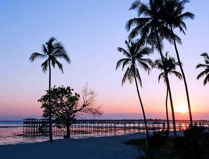 Sonnenuntergang am Indischen Ozean